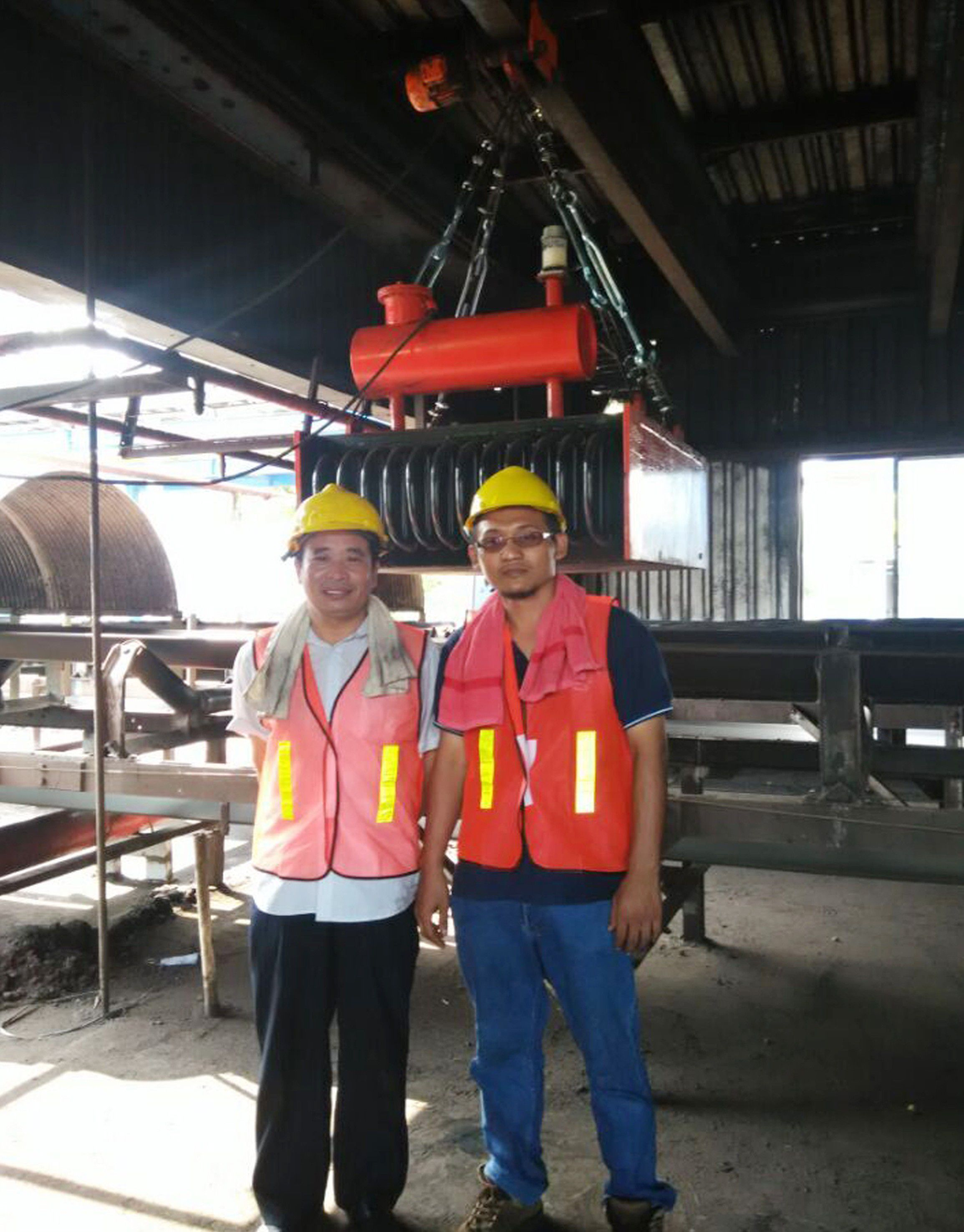 Electromagnetic Oil-cooling separator working site in S2P,Cilacap,Indonesia